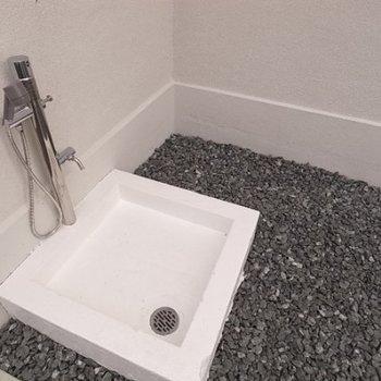 1階共用部にはペット用の足洗場も完備されています。