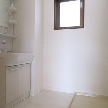 洗面台と洗濯機置場