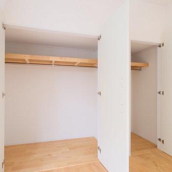 この大きさの収納がそれぞれの居室にあります。
