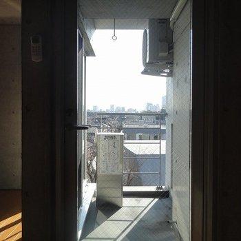 羨ましい眺望※写真は5階の反転間取り別部屋のものです