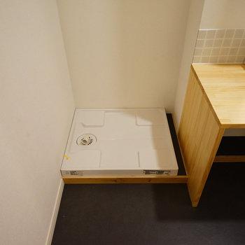 【イメージ】洗面台の隣には洗濯パン