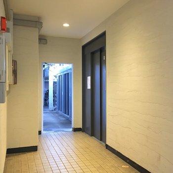 共用廊下もしっかり清掃されている印象。