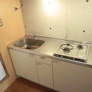 二口ガスコンロ※写真は3階の同間取り別部屋のものです