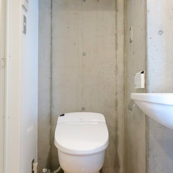 サニタリーの扉を開けるとトイレ!