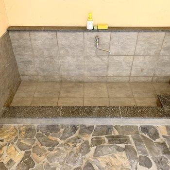 わんちゃんの足洗い場もありました。