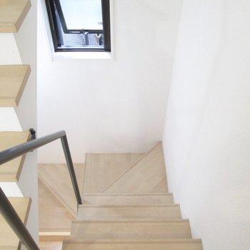2階に降りましょう。