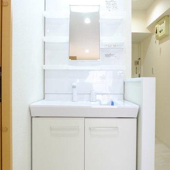 洗面台も独立がうれしい。※写真は別部屋