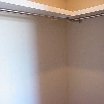 ウォークインクローゼットで収納上手。※写真は2階の反転似ている間取り別部屋のものです