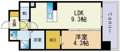 Modern Palazzo Hakata rivaⅠの間取り図