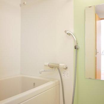 グリーンのさわやかなお風呂