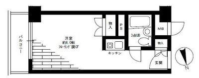 ライオンズマンション歌舞伎町 の間取り