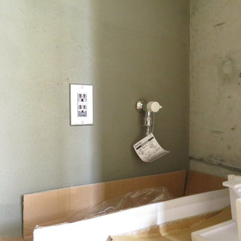 洗濯機をここに置くようです※写真は前回募集時のもの。