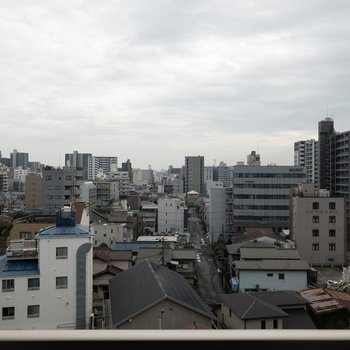 8階からの眺めは気持ちいい!