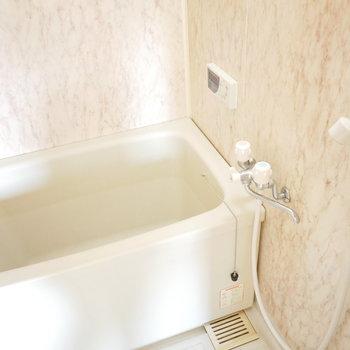浴室はレトロなシンプルなもの