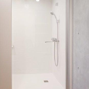 サニタリーの浴槽はなく、シャワールームで