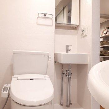 トイレは浴室の中にある作り。