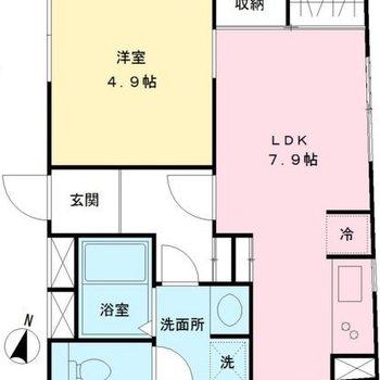 小さめのLDK。最上階角部屋!!