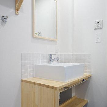 【イメージ】洗面台もナチュラルなものを。