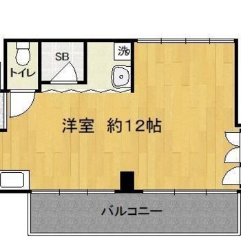 お部屋は一人暮らしにはちょうどよさそうです