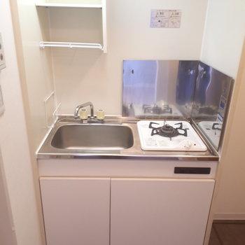 冷蔵庫は横のスペースへ!