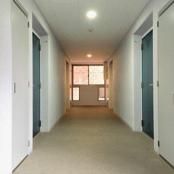 共用廊下も広々しているな〜!