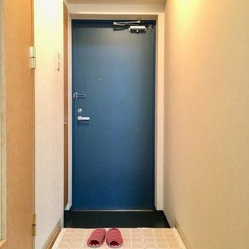 玄関は普通サイズですねっ(※写真の家具や小物は見本です)