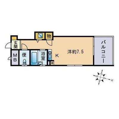 ダイナコートパピヨン吉塚の間取り図