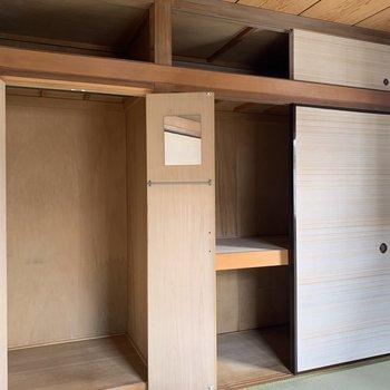 【和室】そして、大容量の収納スペース。
