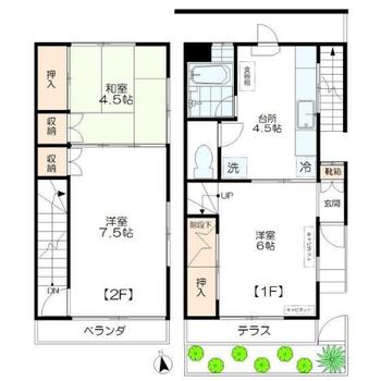 2階まであるメゾネットタイプのお部屋です。