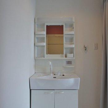 洗面所とキッチンはカーテンで仕切ります!
