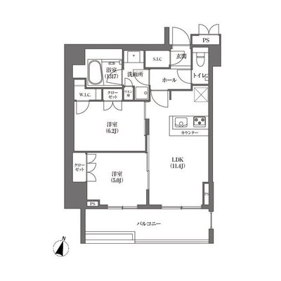 HAMACHO APARTMENTSの間取り