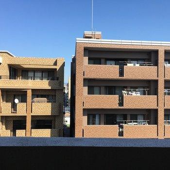 眺望は目の前のマンションが見えます。