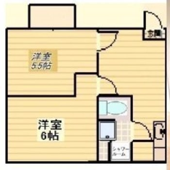 コンパクトだけど2部屋分けて暮らせます!