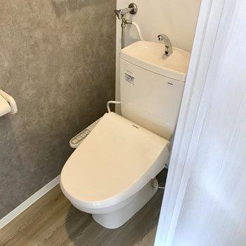 トイレのクロスは大人っぽく