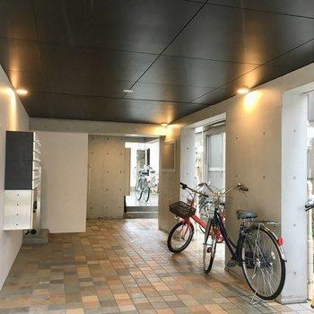 ここに自転車が置けます。
