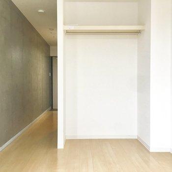 オープンクローゼットで暮らしやすく。※写真は5階同間取り別部屋のものです