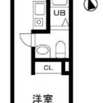シンプルでコンパクトなワンルームのお部屋です。