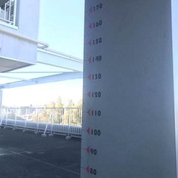 共用部に身長測れる柱がありましたよ〜