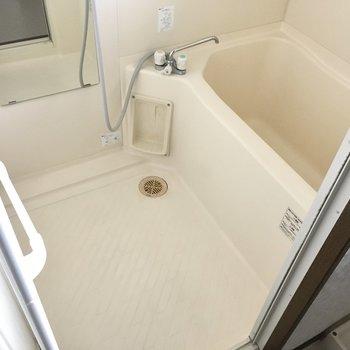 奥にはお風呂。普通サイズかな。