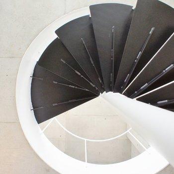 螺旋階段。じー。
