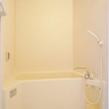 お風呂はすこしコンパクトですが、清潔感。