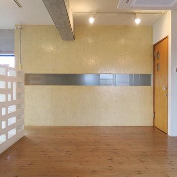 こちらの壁もデザイン性◎