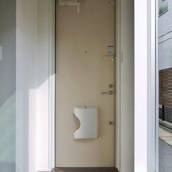 玄関と居室の区切りはありません。※写真は14号室のもの