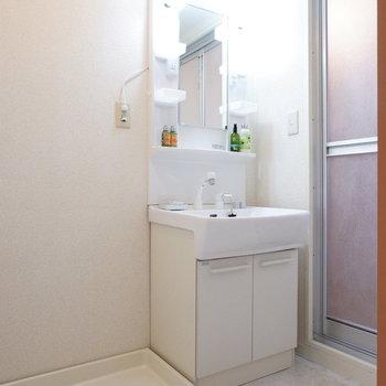サニタリーも清潔感あります。※家具はサンプルです