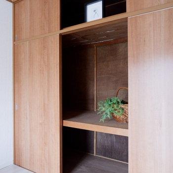 【洋室①】大容量の収納です。※家具はサンプルです