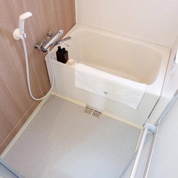 浴室は十分なサイズ感。※家具はサンプルです