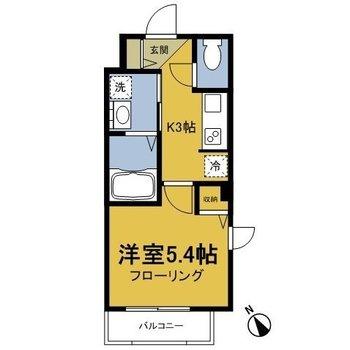 新築の1Kのお部屋です。