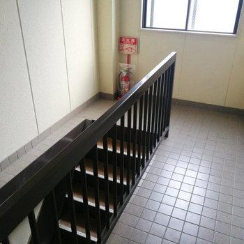 玄関の目の前が階段なので、共用部はエントランスくらいです