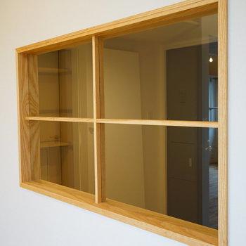 【イメージ】ウォークインと土間をつなぐ室内窓!