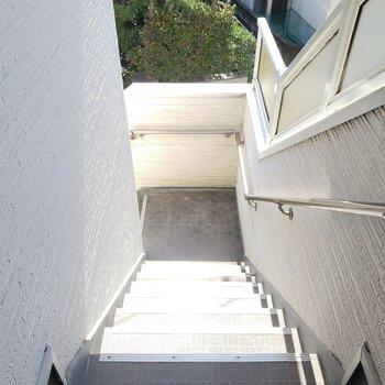 階段を上がって・・・